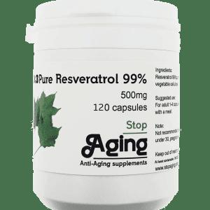 Trans-Resveratrol 500mg 120 capsules